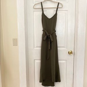 Who What Wear Olive green utility belted dress